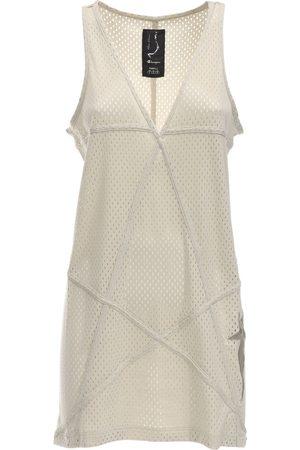 Rick Owens Women Casual Dresses - Champion V Neck Jersey Mesh Tunic Dress