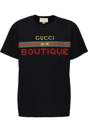Gucci Boutique Print Cotton T-shirt