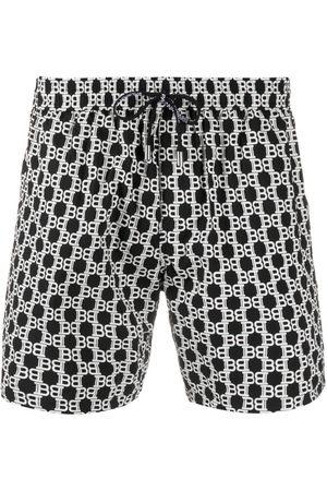 Balmain Logo print swim shorts