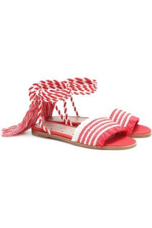 RED(V) Raffia sandals
