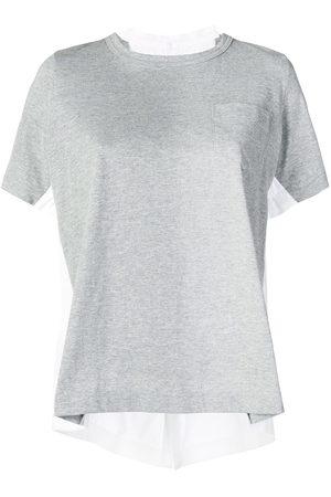 SACAI Women Short Sleeve - Double-sided T-shirt
