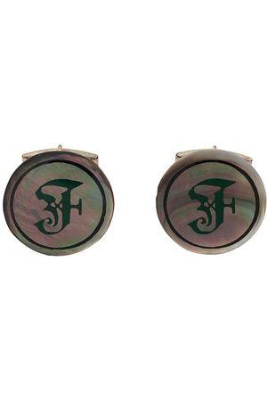 Gianfranco Ferré 2000s iridescent F logo cufflinks