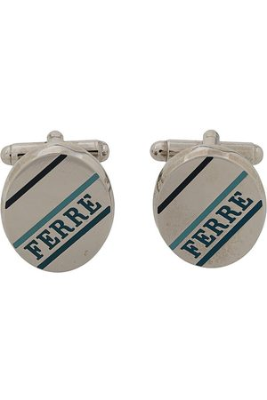 Gianfranco Ferré 2000s logo oval cufflinks