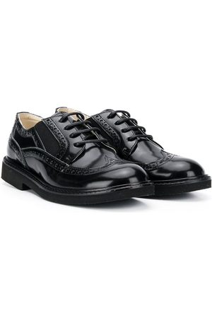 MONTELPARE TRADITION Patent round-toe brogues