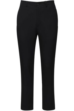 Rochas Men Formal Trousers - Dry Wool Classic Pants W/ Belt