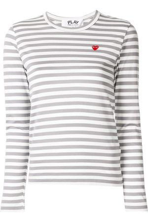 Comme Des Garçons Play Women Tops - Striped-print branded top