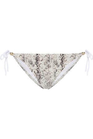 Heidi Klein Zambia snake-effect bikini bottoms