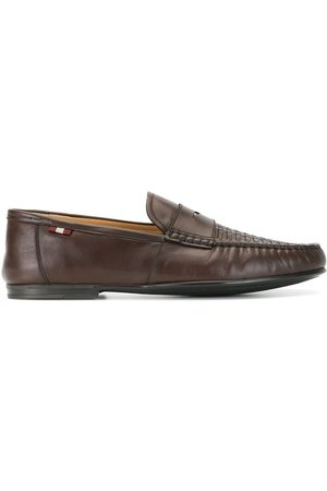 Bally Woven-vamp penny loafers