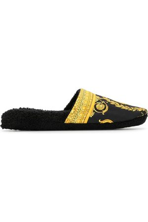 VERSACE Indoor Shoes - Medusa Barocco house slippers