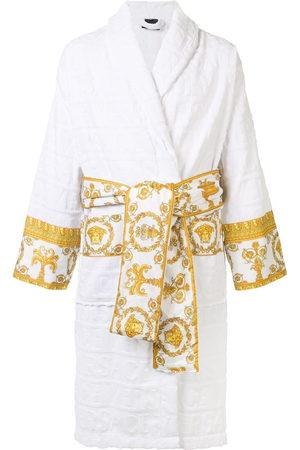 VERSACE Barocco trim terry robe