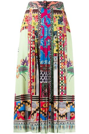 Etro Print mix pleated skirt