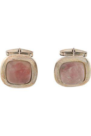Gianfranco Ferré 2000s rose quartz cufflinks