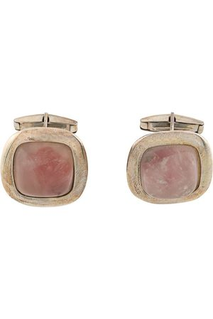 Gianfranco Ferré Pre-Owned 2000s rose quartz cufflinks