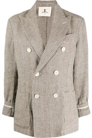 BARENA Double breasted houndstooth blazer