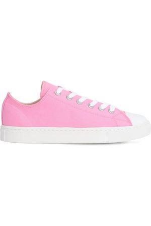JUNYA WATANABE Low Top Cotton Canvas Sneakers