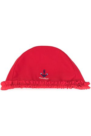 Familiar Girls Hats - Embroidered-anchor beach hat