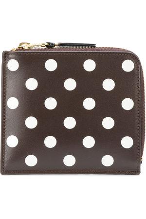 Comme Des Garçons Wallet Polka dot zipped wallet