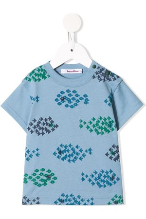 Familiar Geometric-print cotton T-shirt