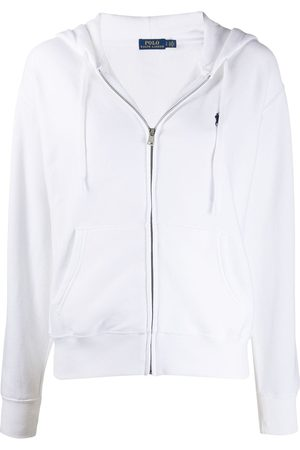 Polo Ralph Lauren Women Hoodies - Logo-embroidered zipped hoodie