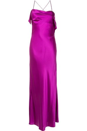 Michelle Mason Draped-neck cocktail dress