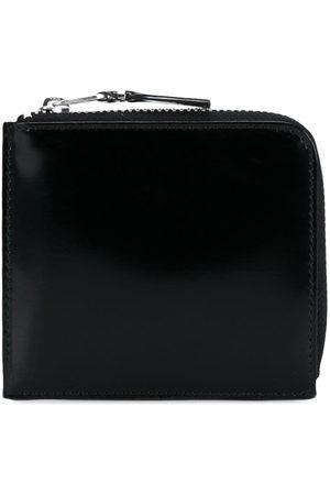 Comme des Garçons Wallets - Glossy half-zip wallet