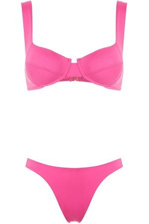 Brigitte High cut leg bikini set