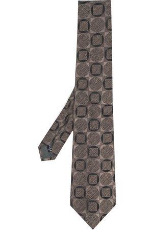 Gianfranco Ferré 1990 geometric tile print tie