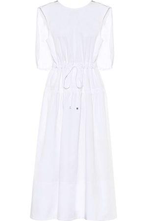 tibi Organic-cotton caped midi dress