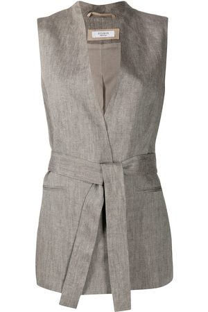 PESERICO SIGN Belted wrap-style waistcoat