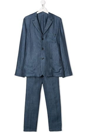 Emporio Armani TEEN linen two-piece suit