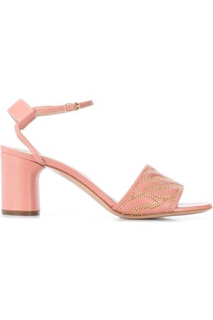 Casadei Block heel studded sandals