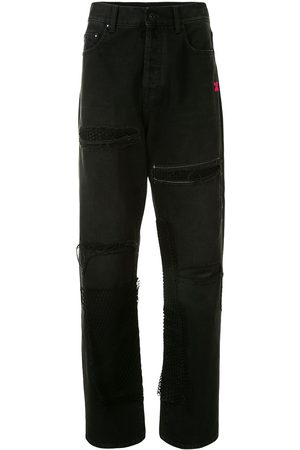 OFF-WHITE Ripped Arrows-logo jeans