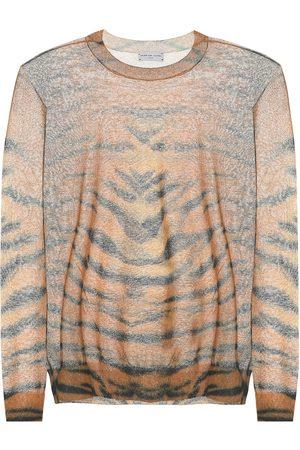 DRIES VAN NOTEN Tiger cotton-blend sweater