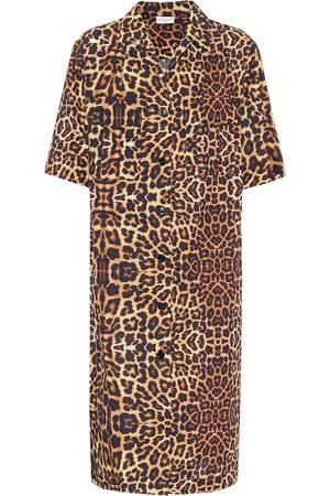 DRIES VAN NOTEN Leopard-print cotton shirt dress