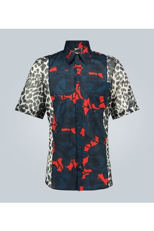 DRIES VAN NOTEN Floral and leopard printed shirt