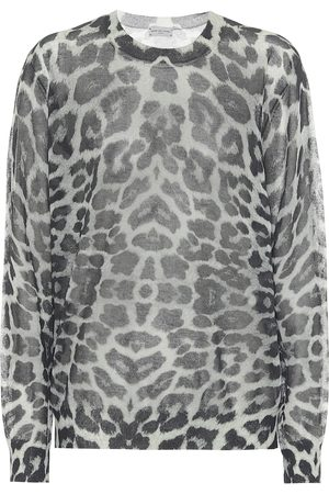DRIES VAN NOTEN Leopard cotton-blend sweater
