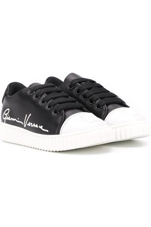 VERSACE Signature print low-top sneakers