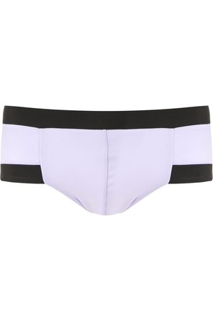 AMIR SLAMA Contrasting trim swim trunks