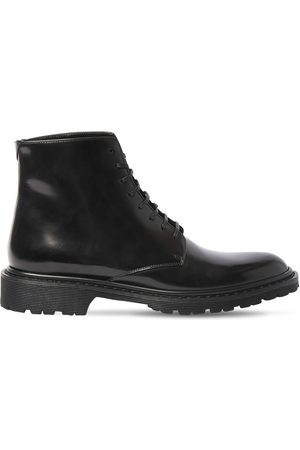 Saint Laurent 30mm Army Brushed Leather Boots