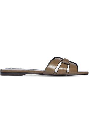 Saint Laurent 10mm Tribute Leather Sandals