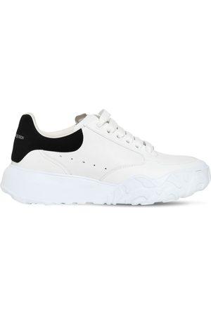Alexander McQueen 45mm Court Trainer Leather Sneakers