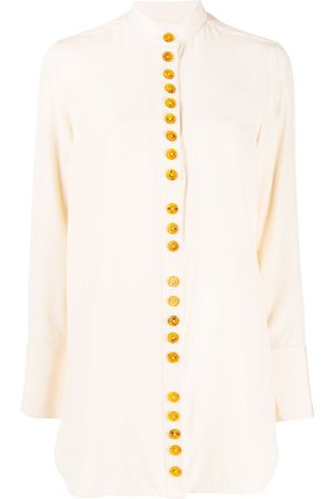 Jil Sander Bold button-up silk shirt