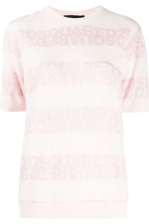 Dsquared2 Women Short Sleeve - Open stitch logo T-shirt