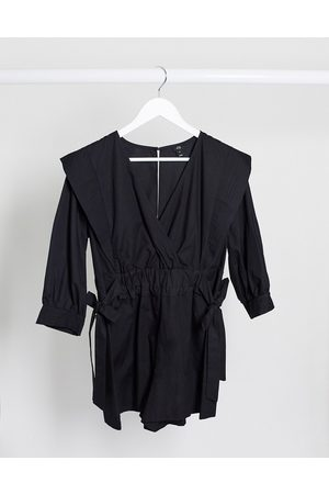 River Island Women Playsuits - Cotton poplin playsuit in