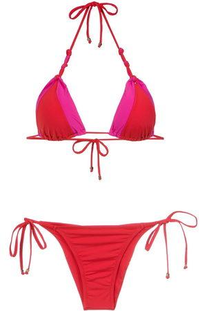 AMIR SLAMA Panelled triangle bikini set