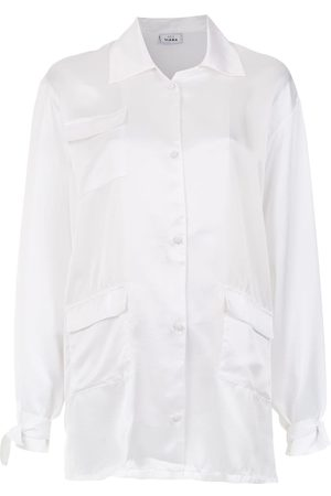 AMIR SLAMA Silk oversized shirt