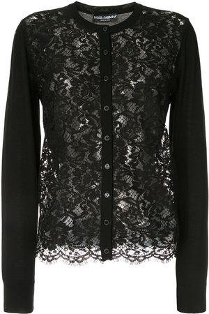 Dolce & Gabbana Lace-front cardigan