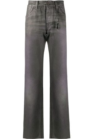 Gianfranco Ferré 1990s metallic-effect straight-leg jeans