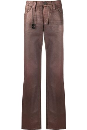 Gianfranco Ferré 1990's archive waxed trousers
