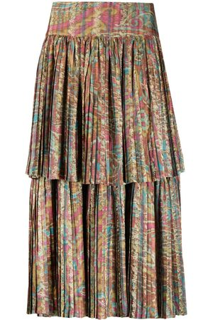 A.N.G.E.L.O. Vintage Cult Women Printed Skirts - 1990s abstract printed pleated skirt